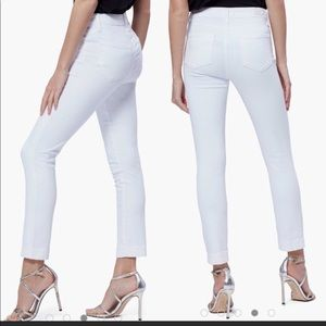 Paige Hoxton Ankle High Rise white skinny jeans